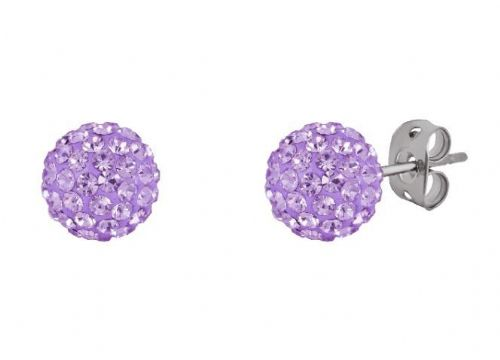 Tresor Paris 10mm Lilac Large BonBon Stud Earrings
